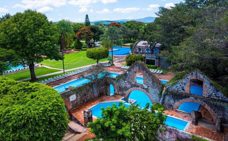 Albercas Hacienda Cocoyoc vista senital